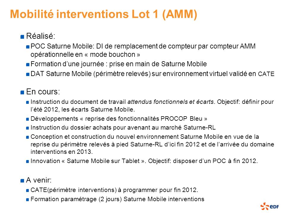 Mobilité interventions Lot 1 (AMM)