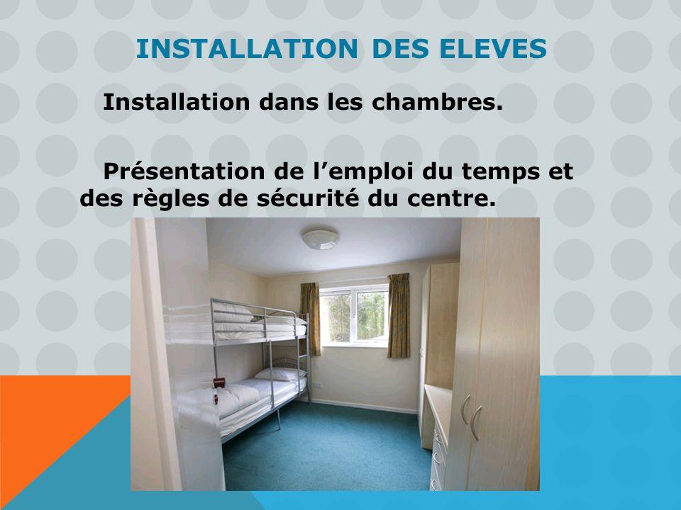 INSTALLATION des ELEVES