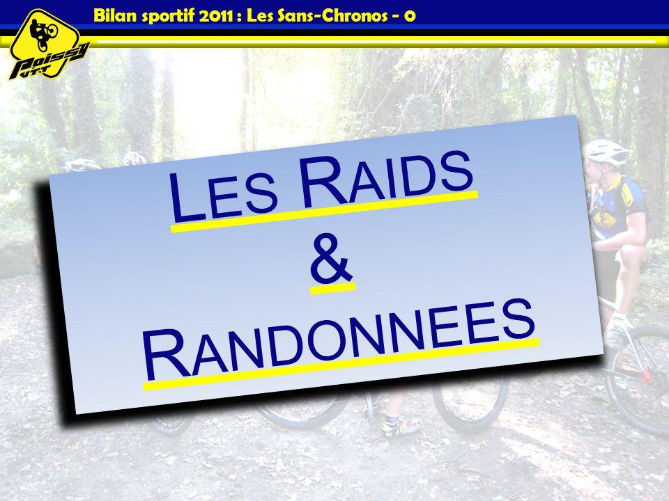 Bilan sportif 2011 : Les Sans-Chronos - 0