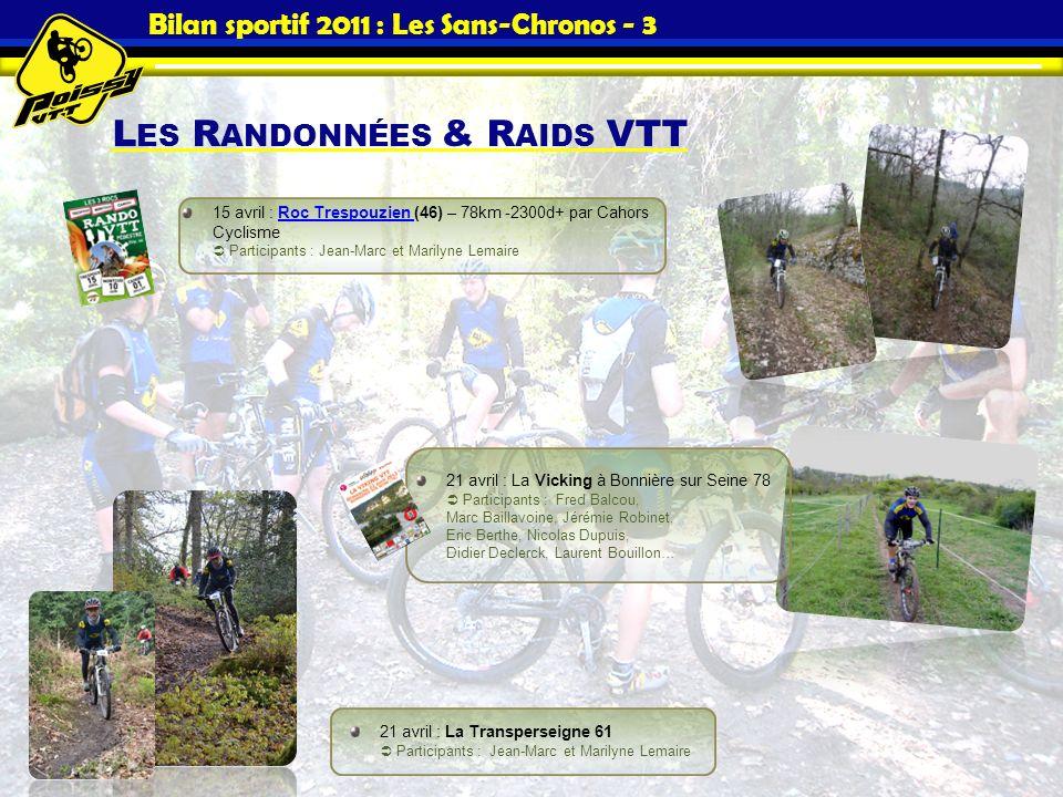 Bilan sportif 2011 : Les Sans-Chronos - 3