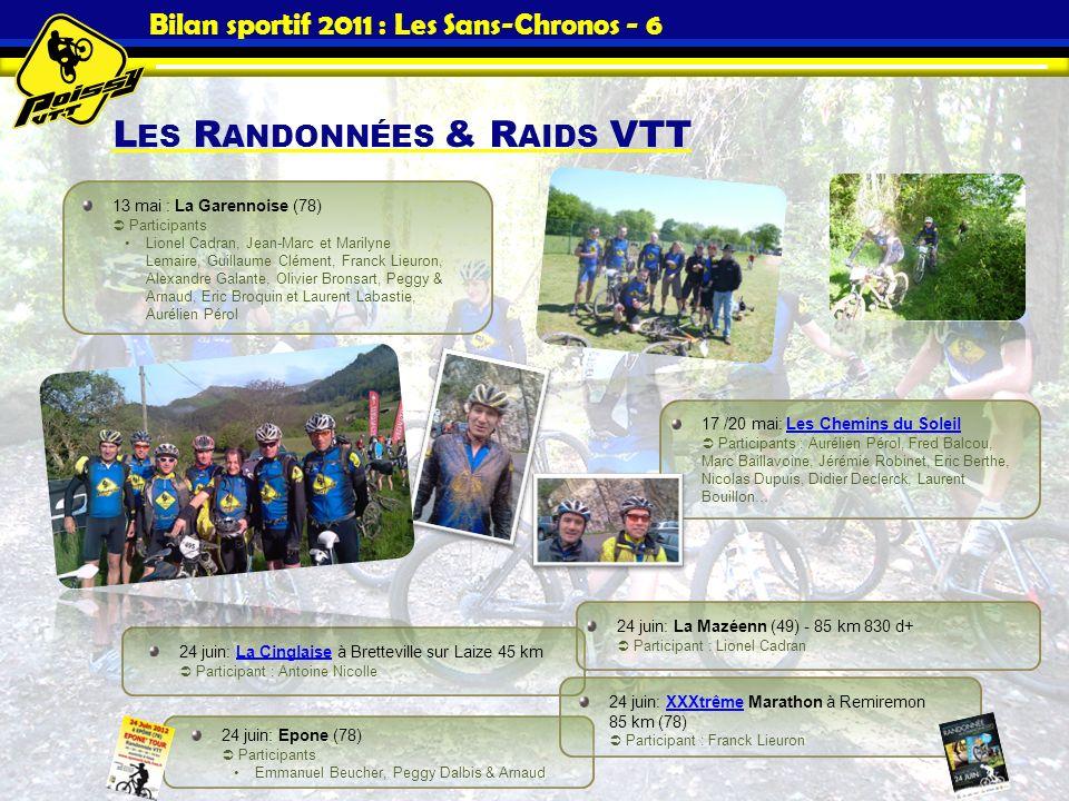 Bilan sportif 2011 : Les Sans-Chronos - 6
