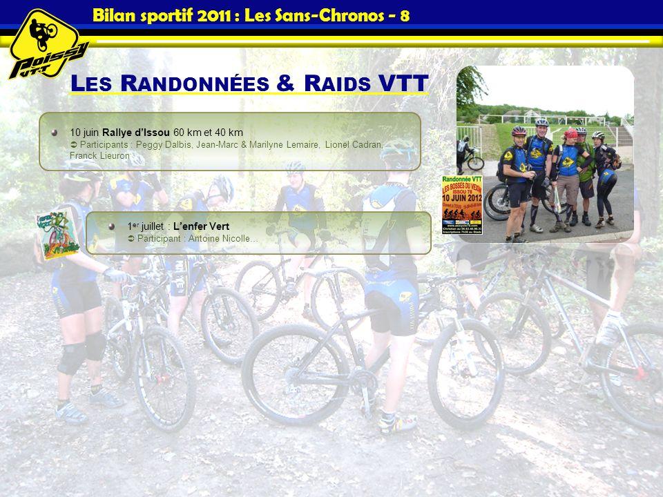 Bilan sportif 2011 : Les Sans-Chronos - 8
