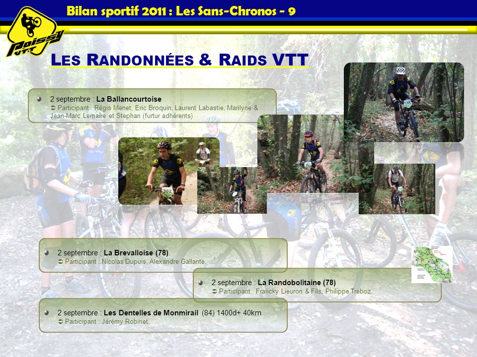 Bilan sportif 2011 : Les Sans-Chronos - 9