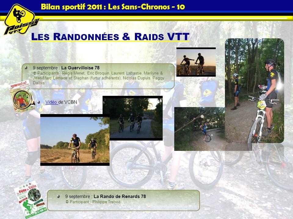 Bilan sportif 2011 : Les Sans-Chronos - 10