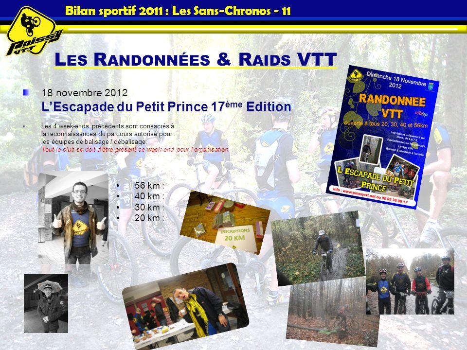 Bilan sportif 2011 : Les Sans-Chronos - 11