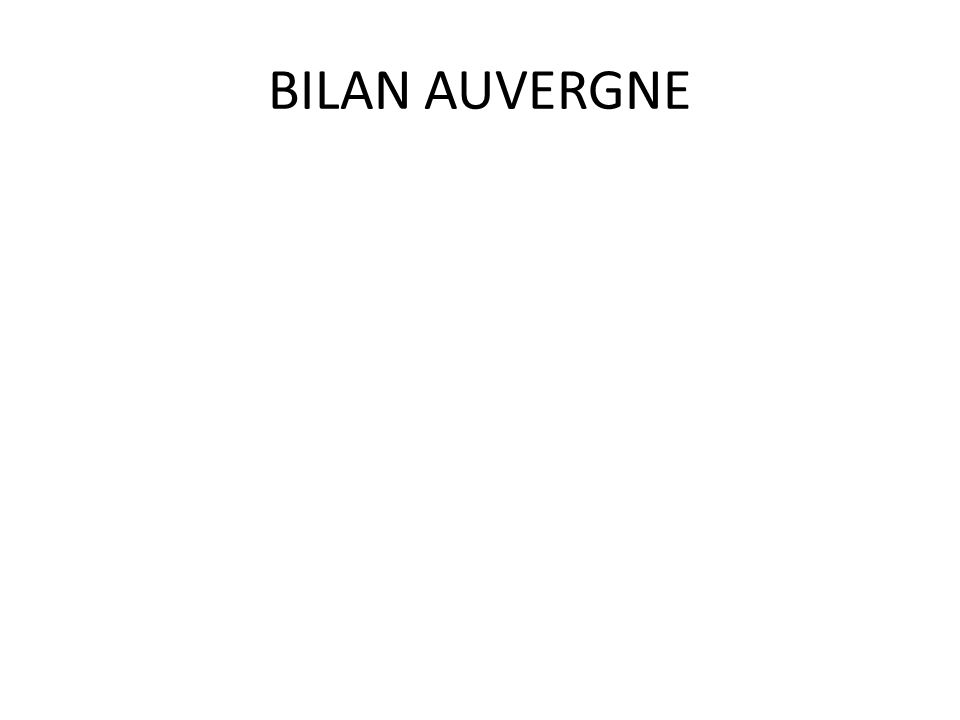 BILAN AUVERGNE