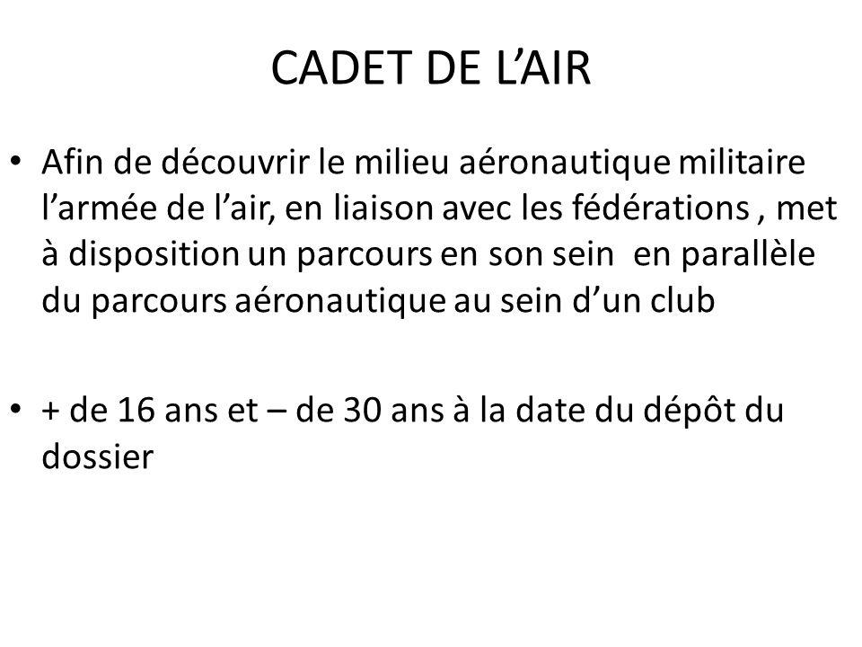 CADET DE L'AIR