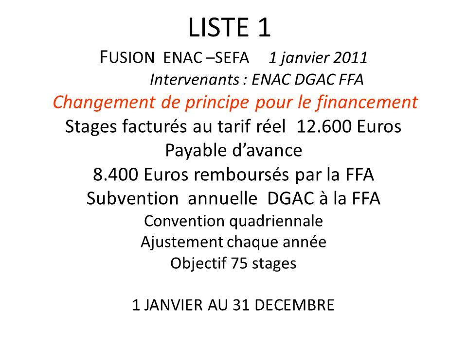 FUSION ENAC –SEFA 1 janvier 2011