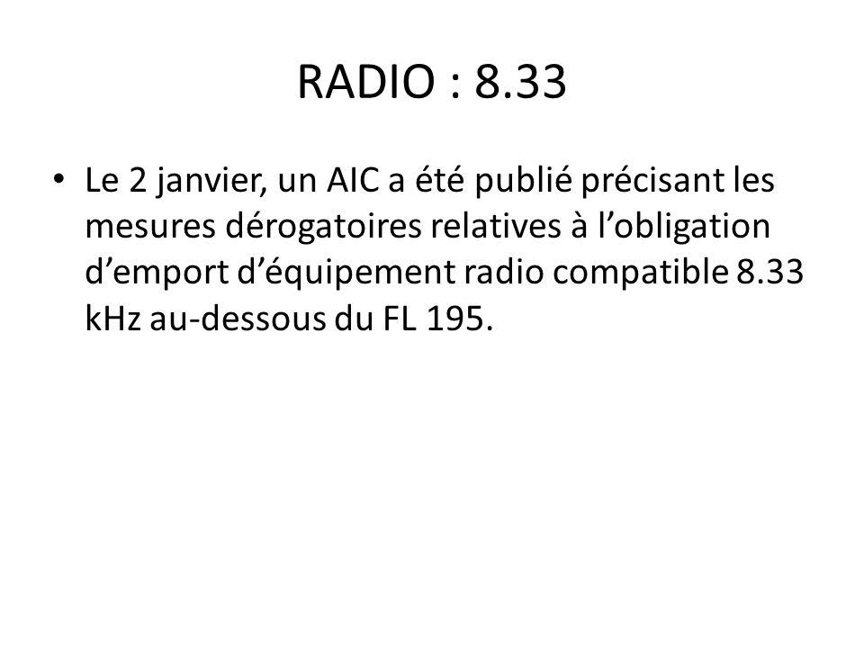 RADIO : 8.33