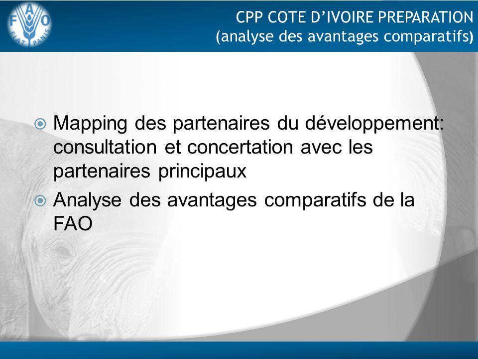 Analyse des avantages comparatifs de la FAO