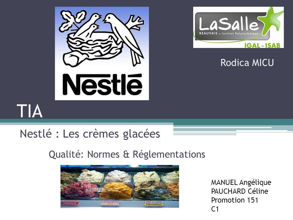 Nestlé : Les crèmes glacées