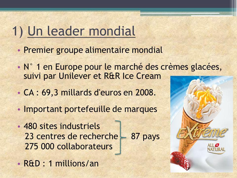 1) Un leader mondial Premier groupe alimentaire mondial