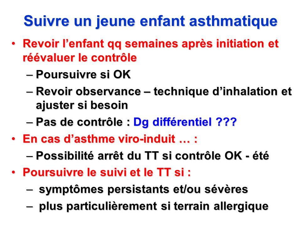 Suivre un jeune enfant asthmatique