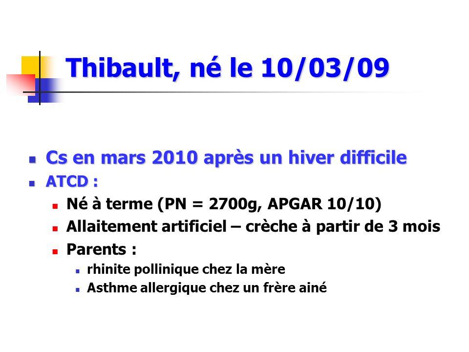 Thibault, né le 10/03/09 Cs en mars 2010 après un hiver difficile