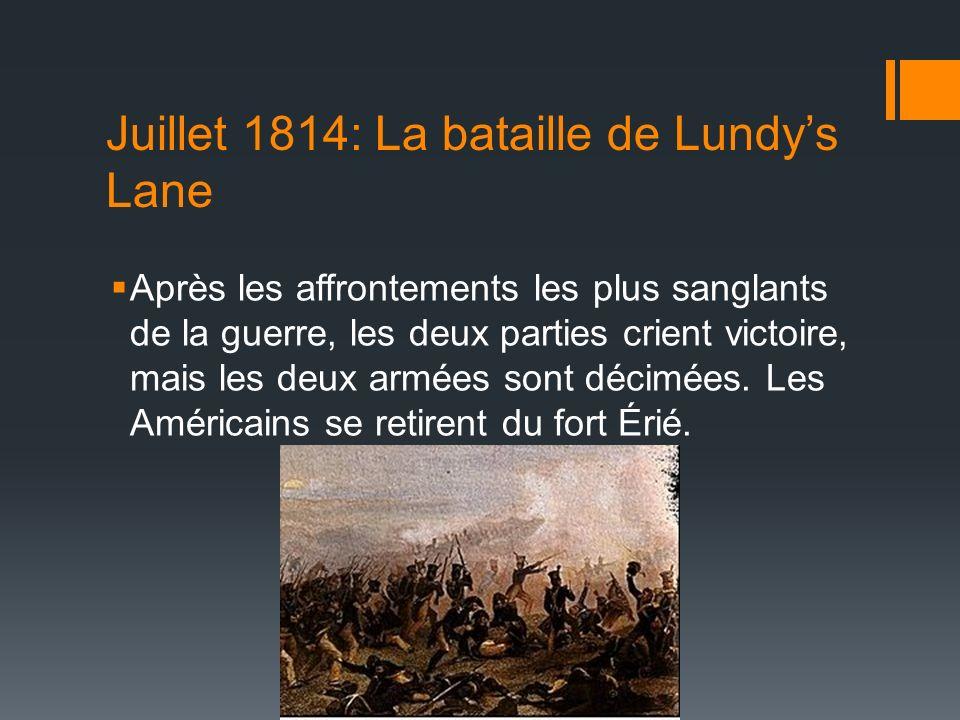 Juillet 1814: La bataille de Lundy's Lane