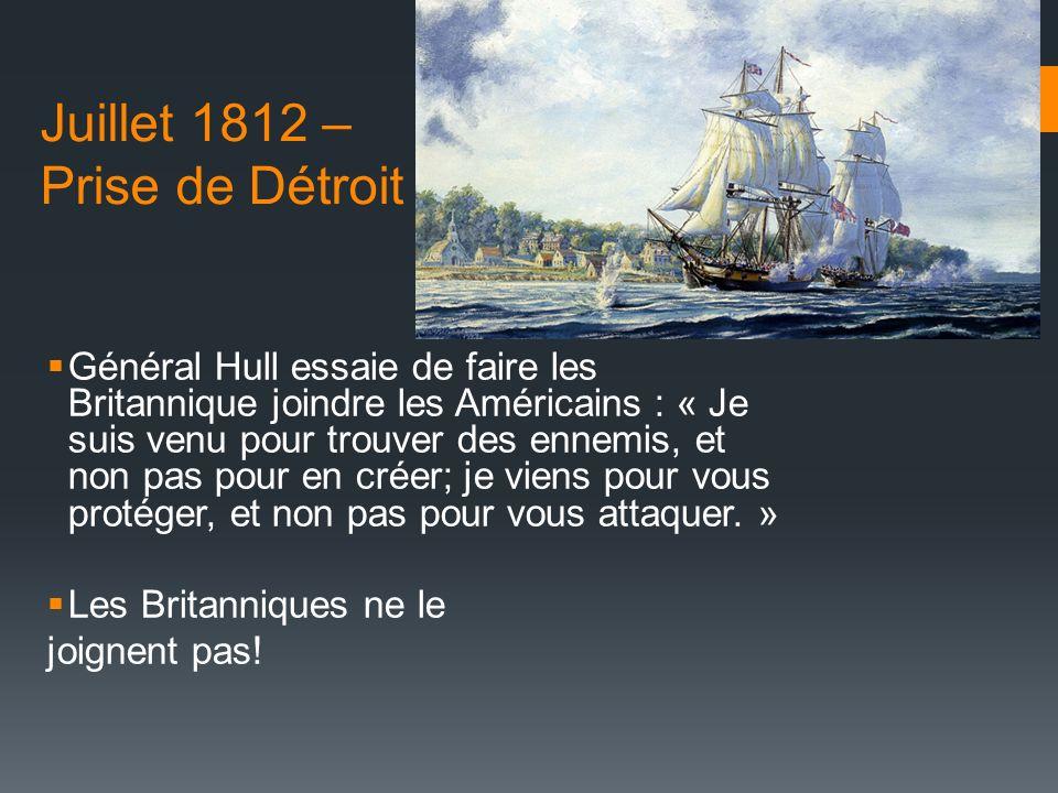 Juillet 1812 – Prise de Détroit