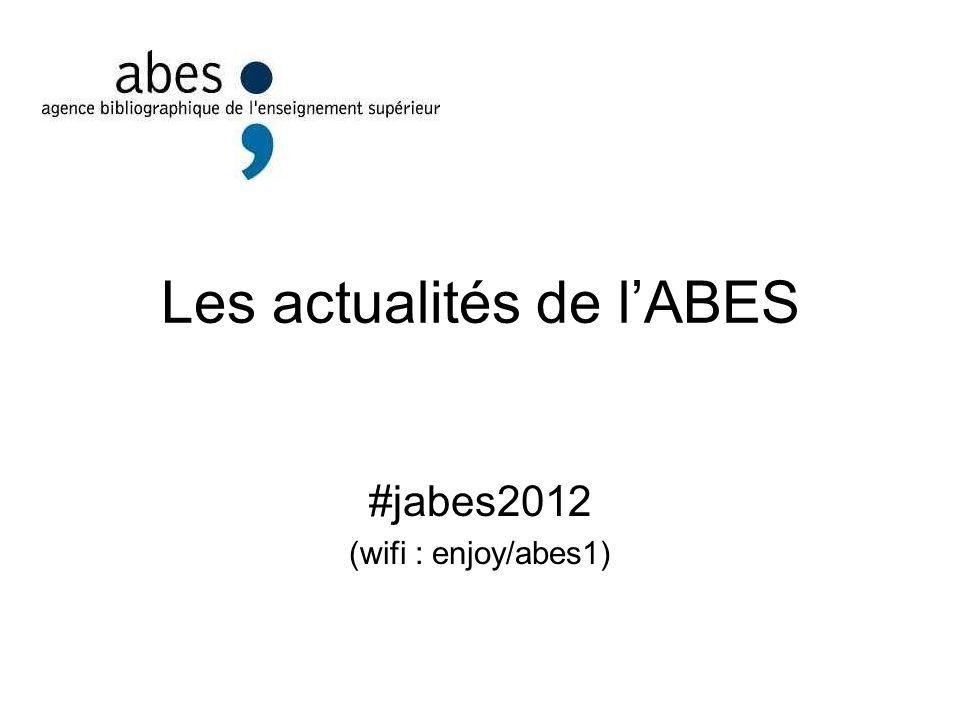 Les actualités de l'ABES