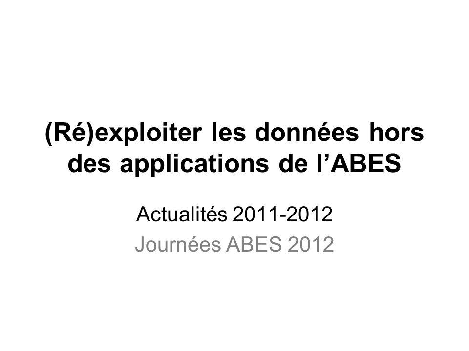 (Ré)exploiter les données hors des applications de l'ABES