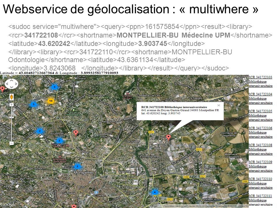 Webservice de géolocalisation : « multiwhere »