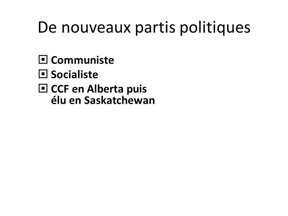 De nouveaux partis politiques