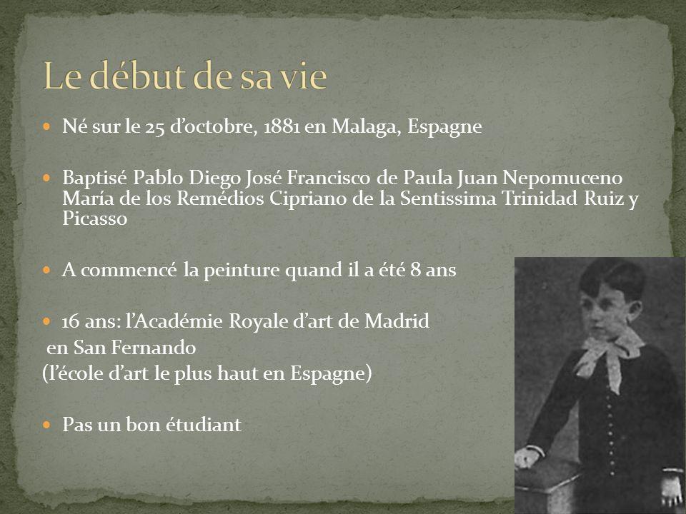 Le début de sa vie Né sur le 25 d'octobre, 1881 en Malaga, Espagne