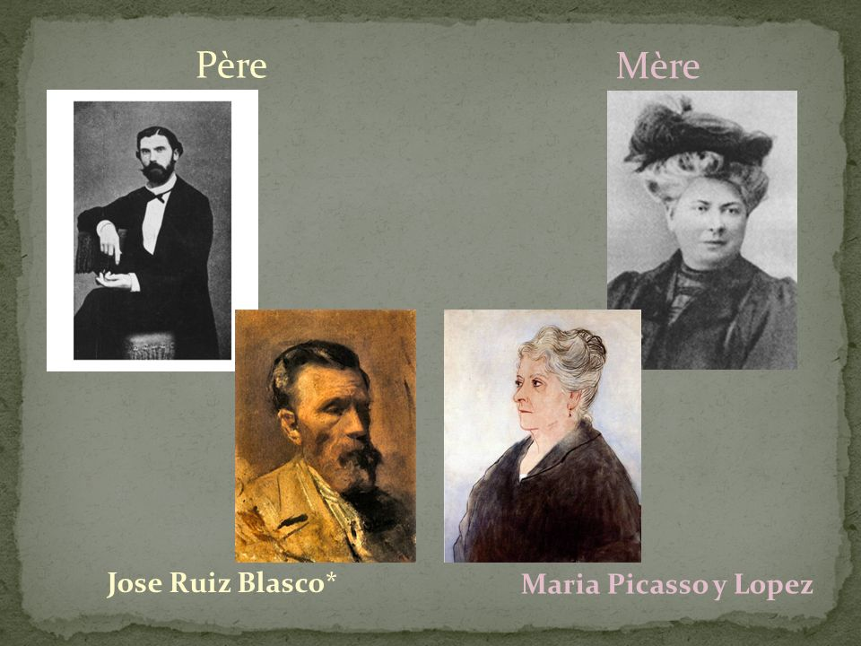 Père Mère Jose Ruiz Blasco* Maria Picasso y Lopez