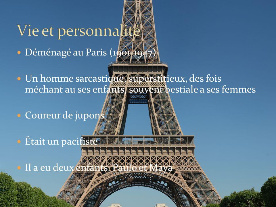 Vie et personnalité Déménagé au Paris (1901-1947)