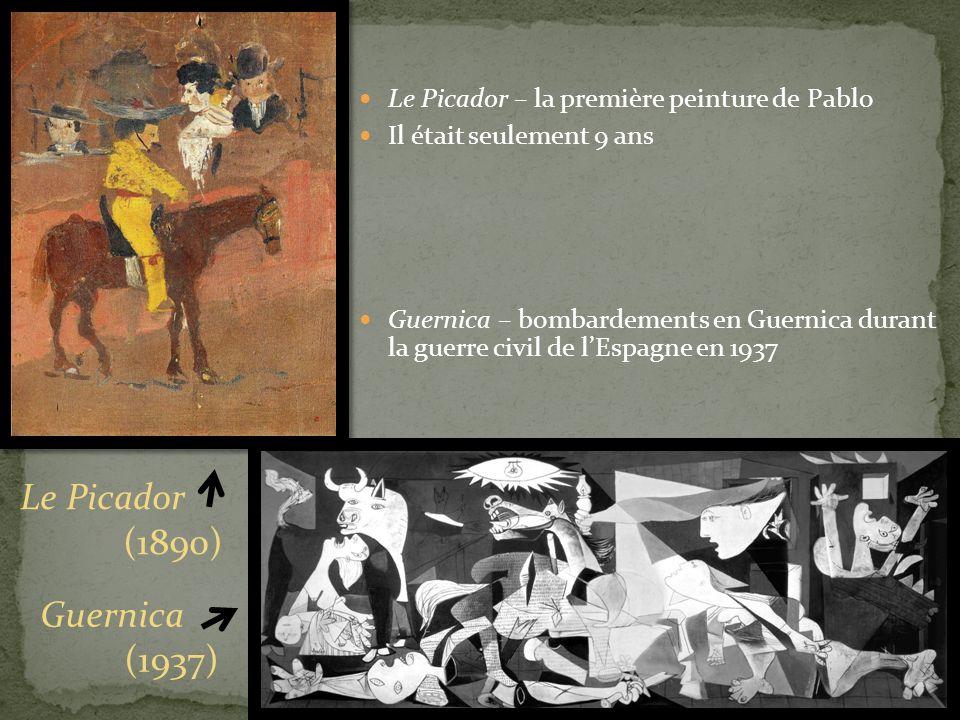 Le Picador (1890) Guernica (1937)