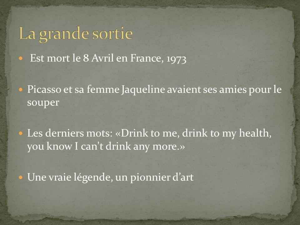 La grande sortie Est mort le 8 Avril en France, 1973