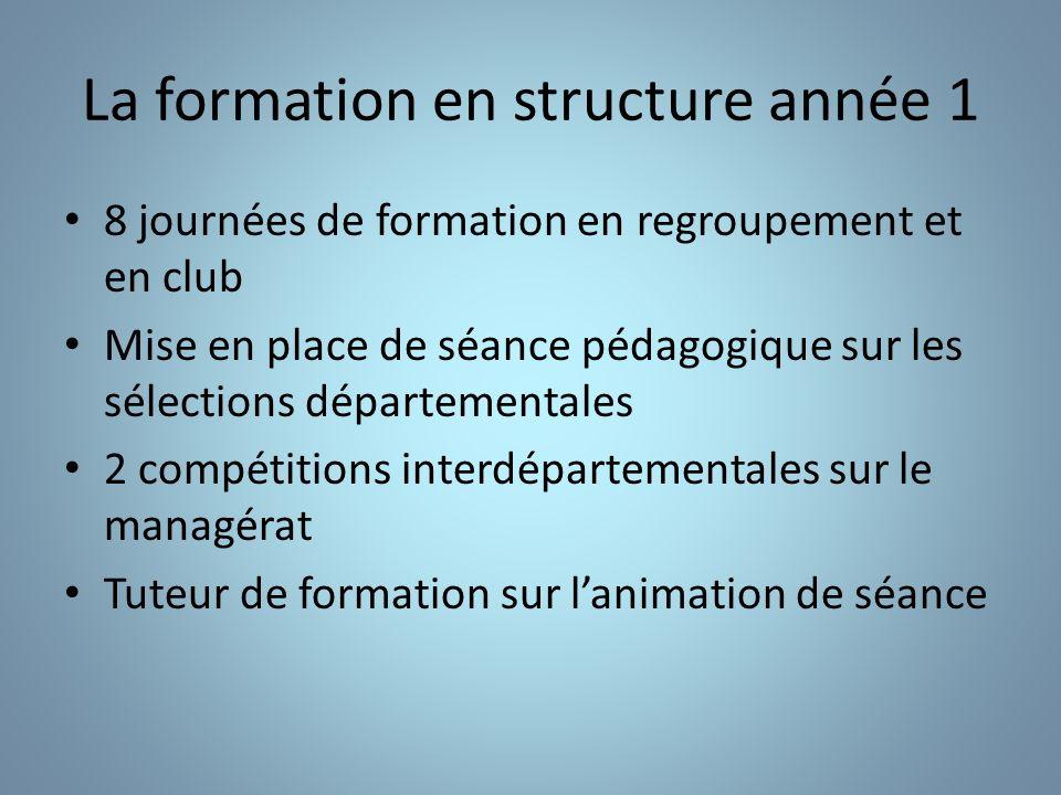 La formation en structure année 1