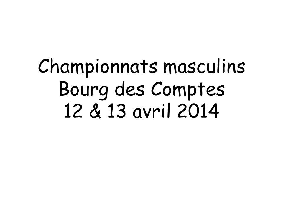 Championnats masculins Bourg des Comptes 12 & 13 avril 2014