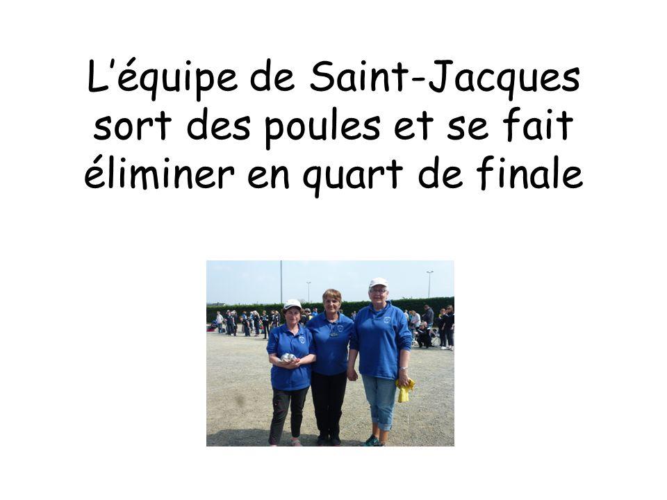 L'équipe de Saint-Jacques sort des poules et se fait éliminer en quart de finale