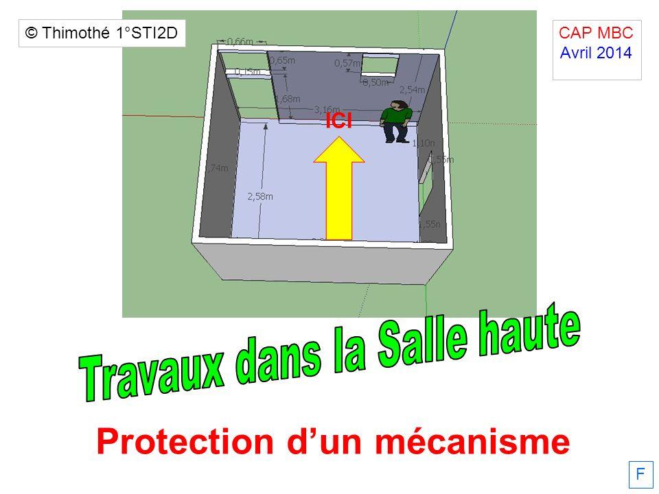 Protection d'un mécanisme