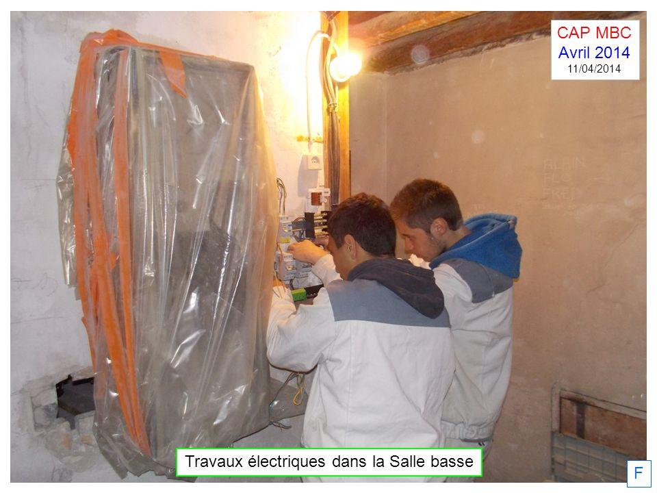 Travaux électriques dans la Salle basse