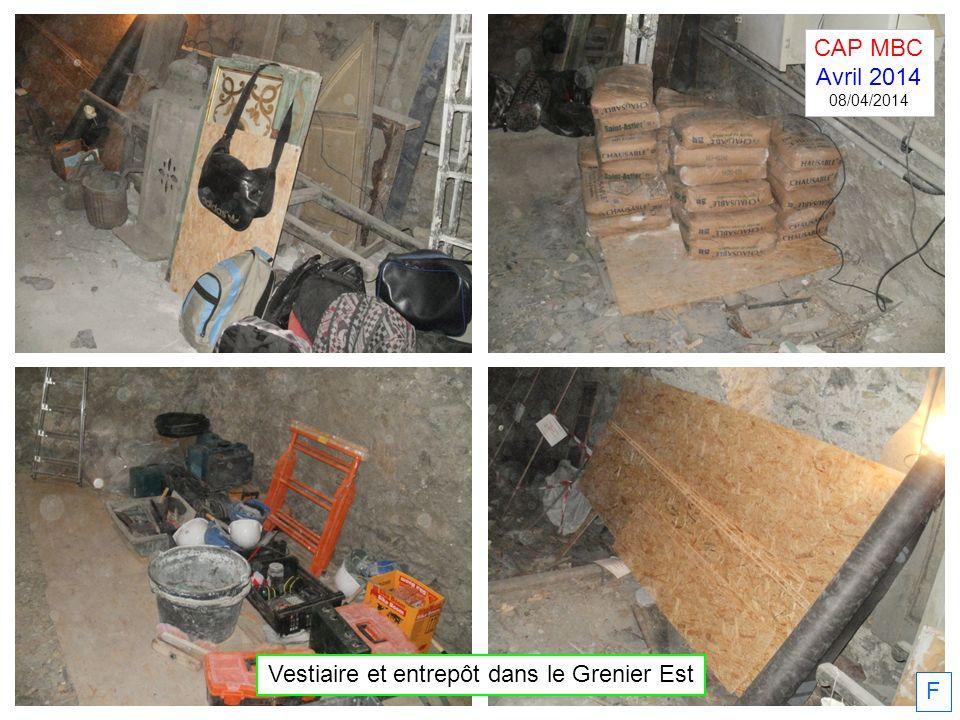Vestiaire et entrepôt dans le Grenier Est