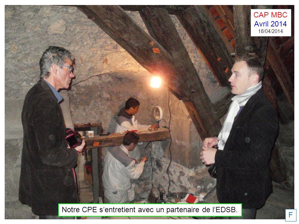 Notre CPE s'entretient avec un partenaire de l'EDSB.