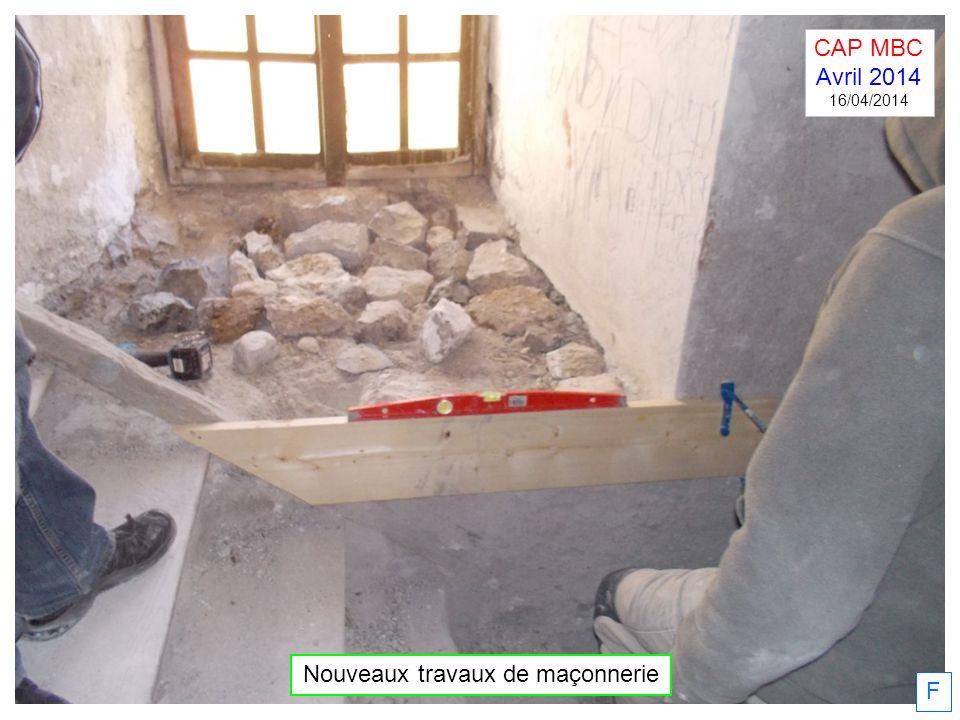 Nouveaux travaux de maçonnerie