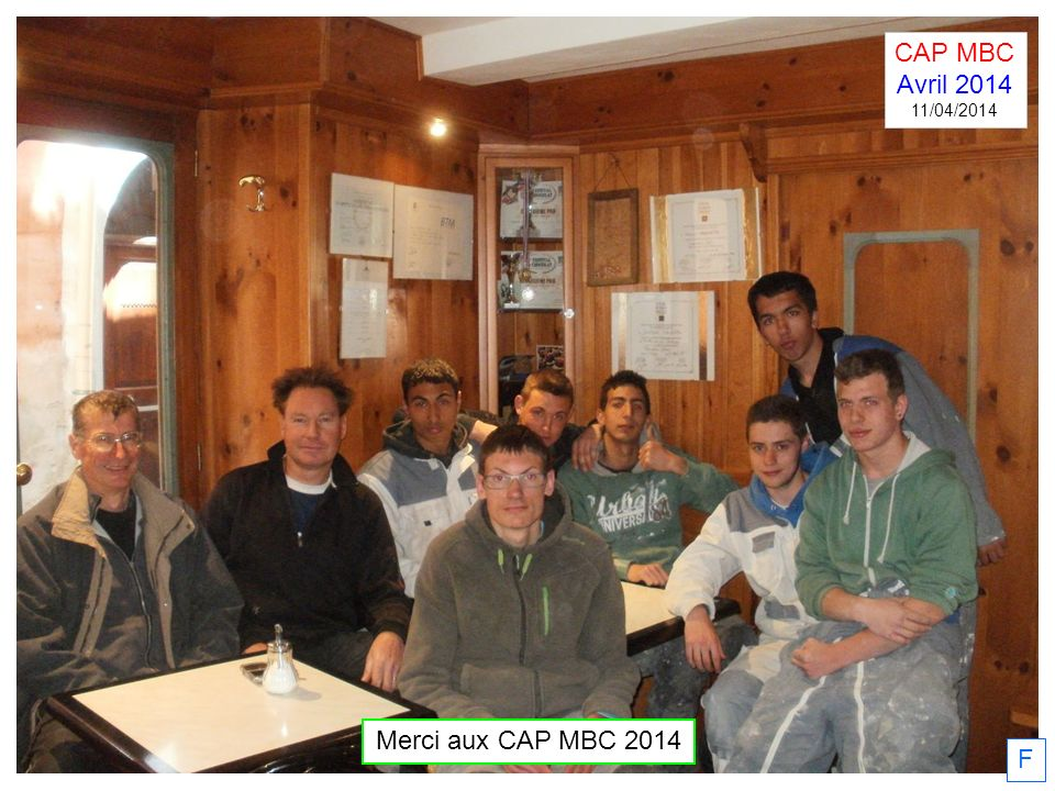 CAP MBC Avril 2014 11/04/2014 Merci aux CAP MBC 2014 F