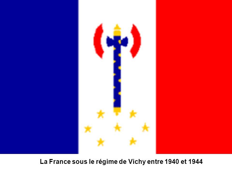 La France sous le régime de Vichy entre 1940 et 1944