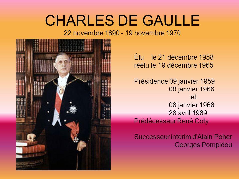 CHARLES DE GAULLE 22 novembre 1890 - 19 novembre 1970