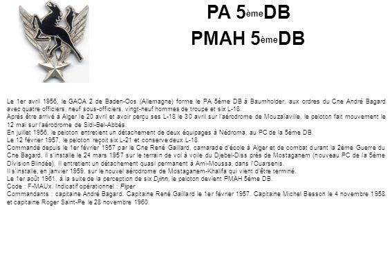 PA 5èmeDB PMAH 5èmeDB.