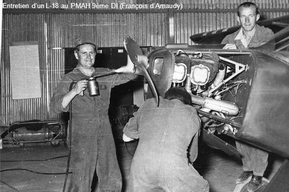 Entretien d'un L-18 au PMAH 9ème DI (François d'Arnaudy)