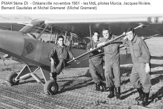 PMAH 9ème DI - Orléansville novembre 1961 - les MdL pilotes Murcia, Jacques Nivière, Bernard Gaudelas et Michel Gremeret (Michel Gremeret)