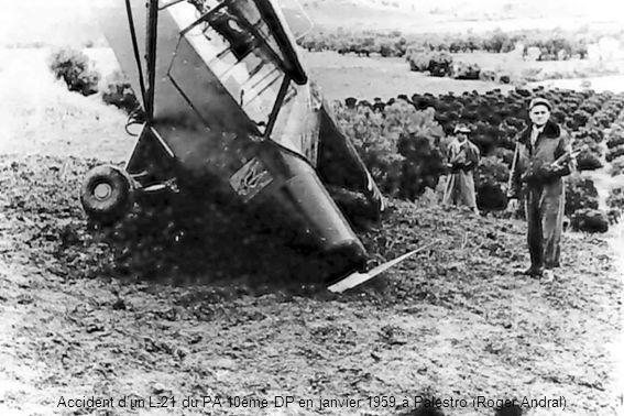 Accident d'un L-21 du PA 10ème DP en janvier 1959 à Palestro (Roger Andral)