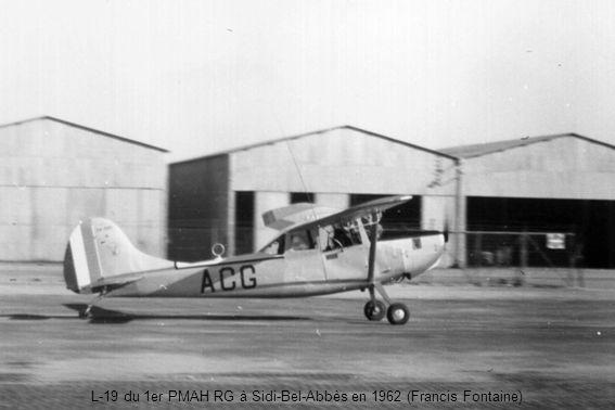 L-19 du 1er PMAH RG à Sidi-Bel-Abbès en 1962 (Francis Fontaine)