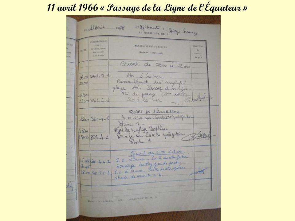 11 avril 1966 « Passage de la Ligne de l'Équateur »