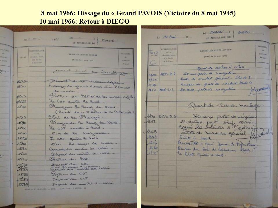 8 mai 1966: Hissage du « Grand PAVOIS (Victoire du 8 mai 1945)