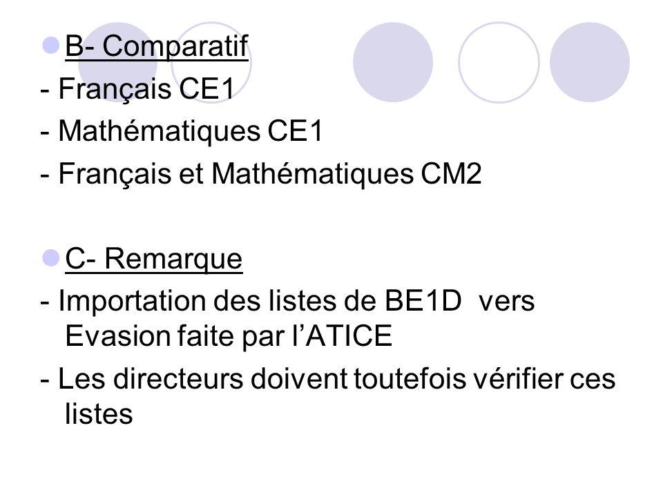 - Français et Mathématiques CM2 C- Remarque