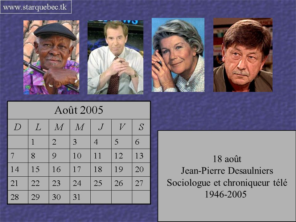 Jean-Pierre Desaulniers Sociologue et chroniqueur télé 1946-2005