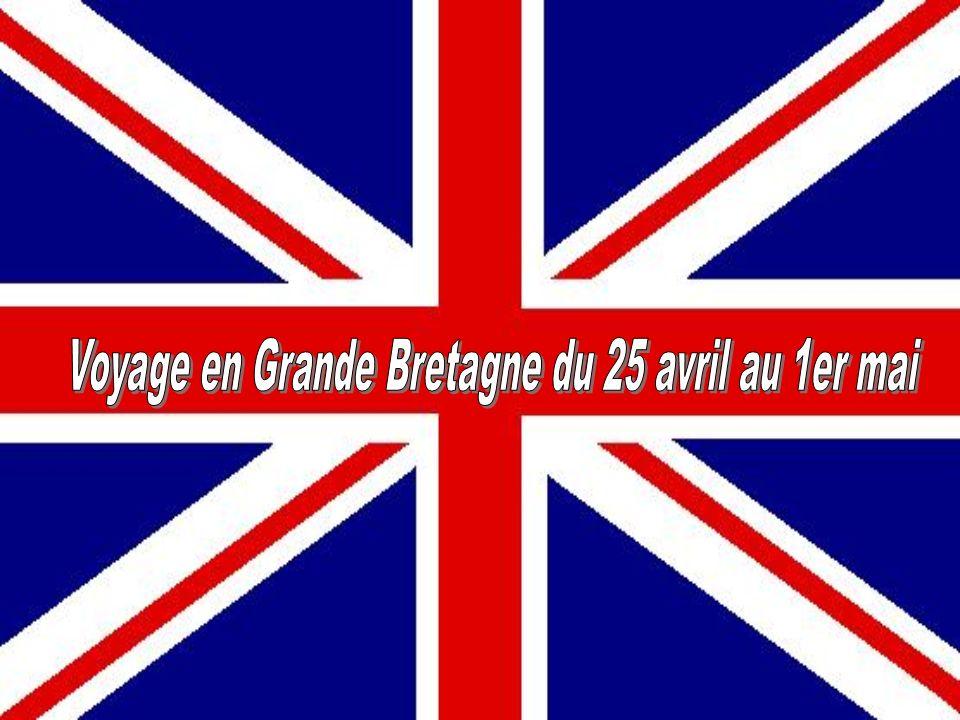 Voyage en Grande Bretagne du 25 avril au 1er mai